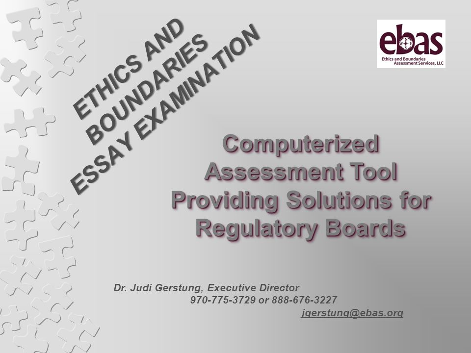 ETHICS AND BOUNDARIES ESSAY EXAMINATION Providing Solutions for