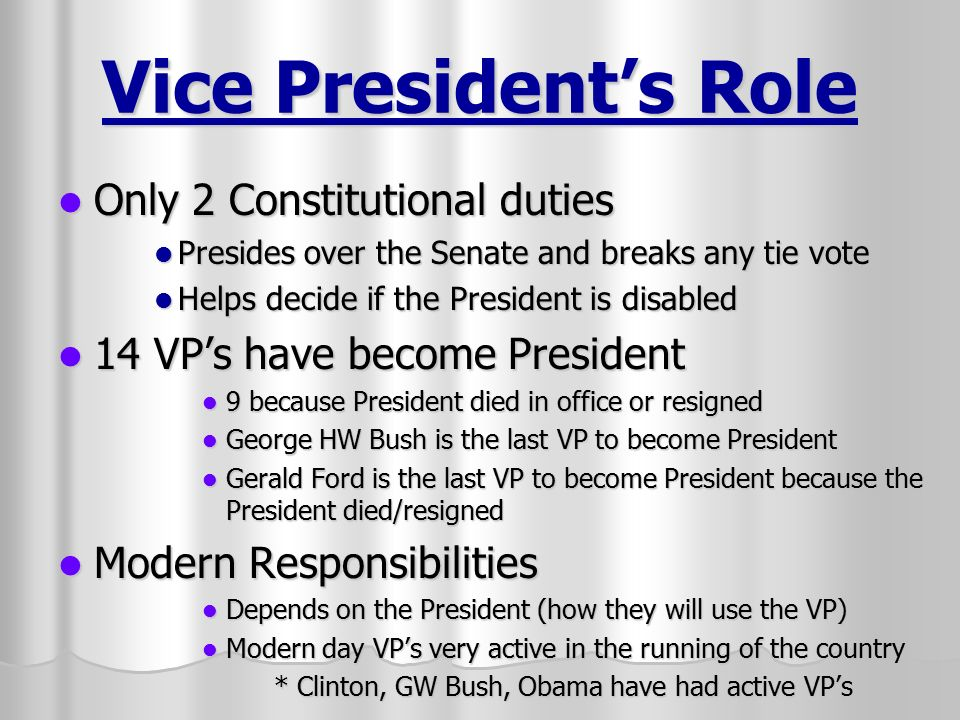 The Executive Branch The President and Vice President - ppt video