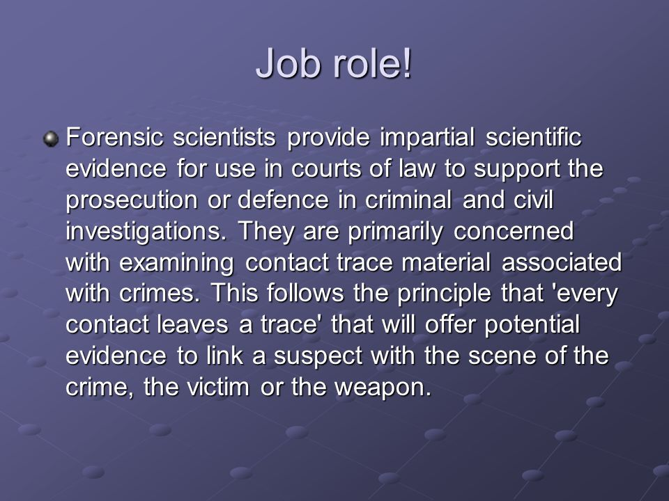 Forensic Scientist By Corey Wilkins - ppt download