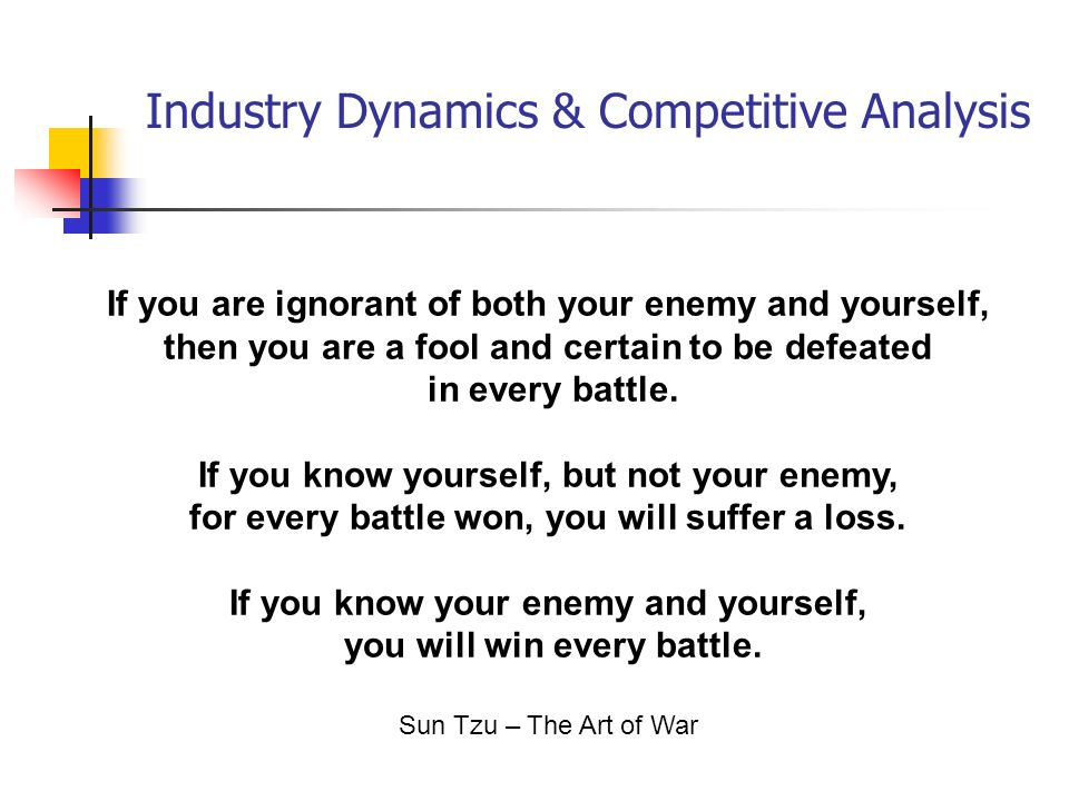 Industry Dynamics  Competitive Analysis - ppt download