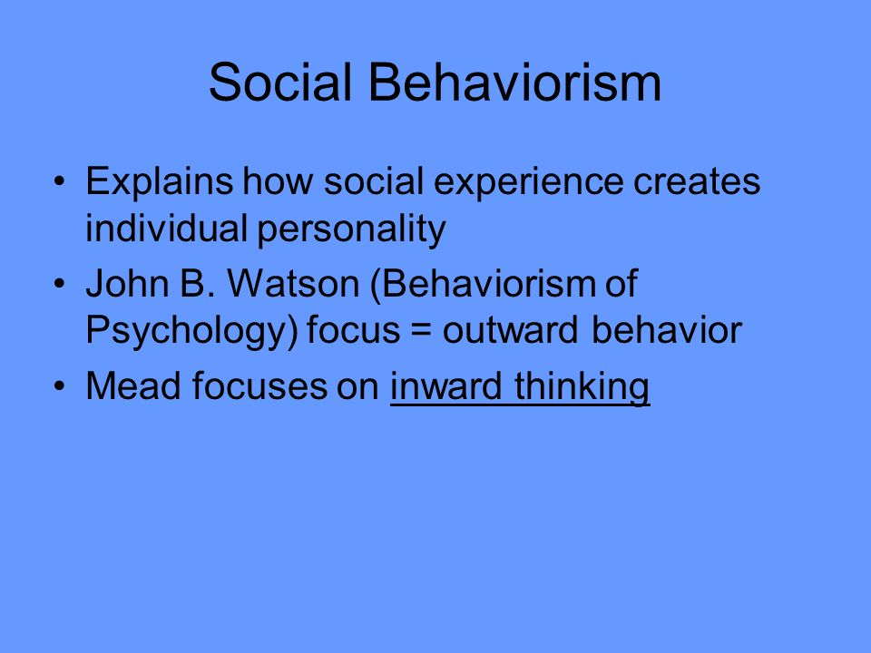 George Herbert Mead Social Behaviorism - ppt video online download