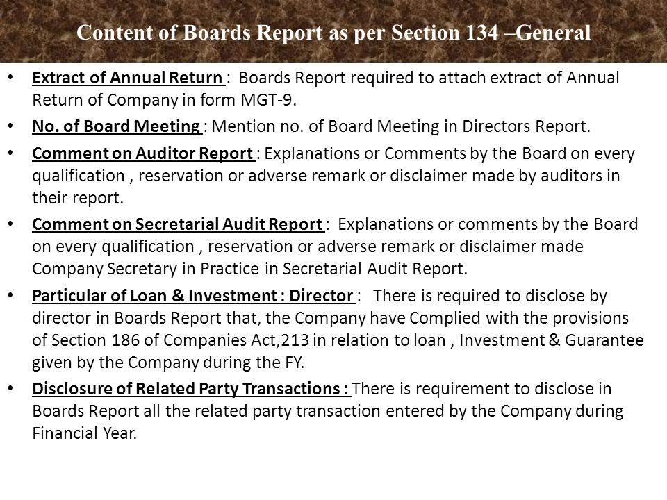 Board of Directors Report Companies Act, ppt download