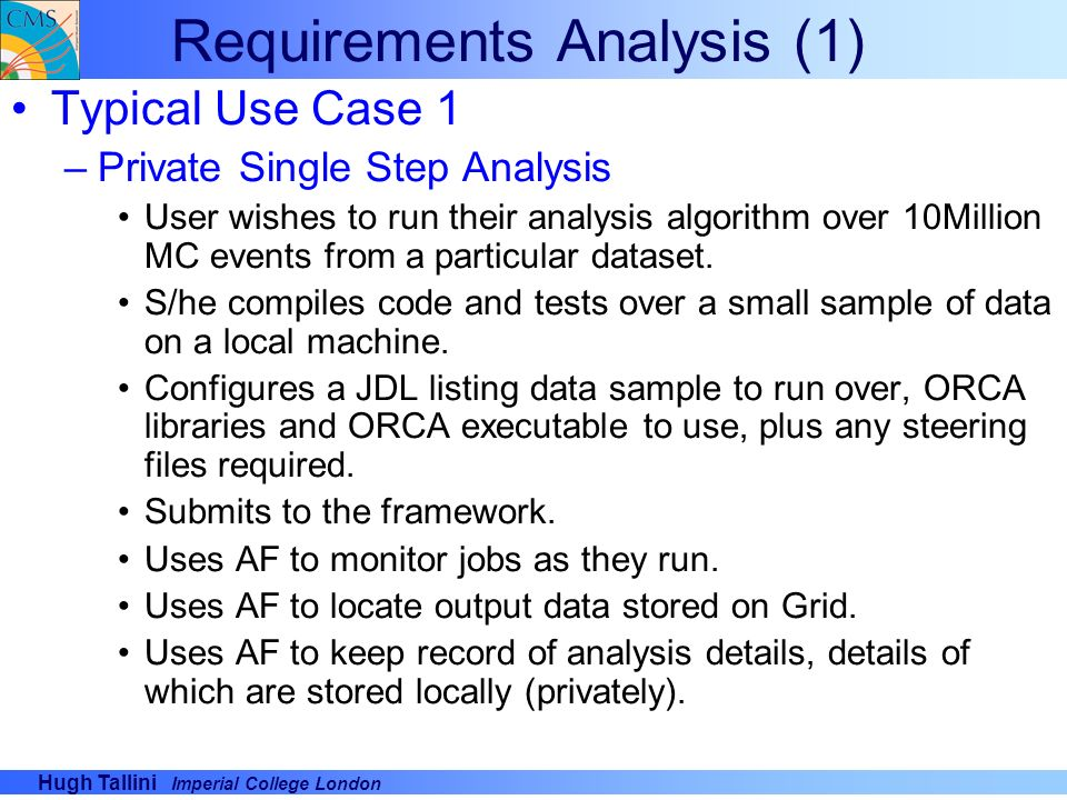 CMS Grid Batch Analysis Framework - ppt video online download
