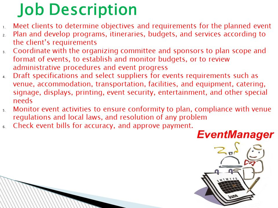 THE EVENT MANAGER - ppt video online download