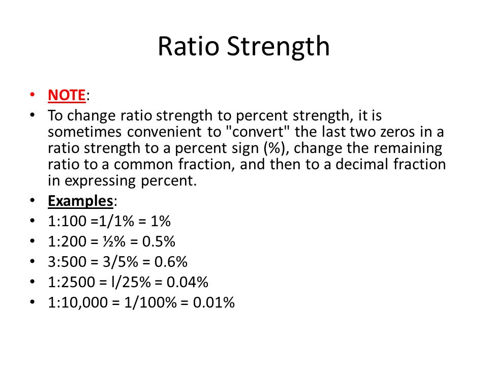 Ratio Strength  Other Expressions of Concentration - ppt video