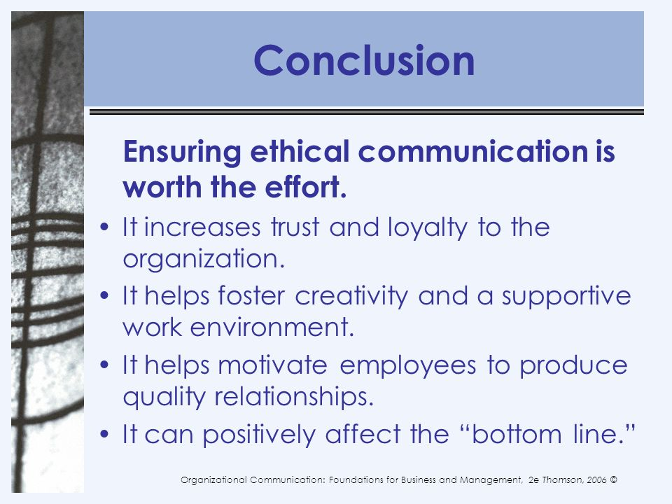 Ethics and Organizational Communication - ppt video online download