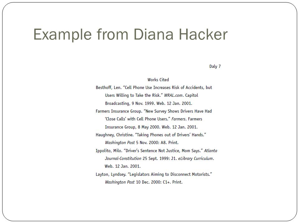 Diana hacker mla research paper outline College paper Academic Service