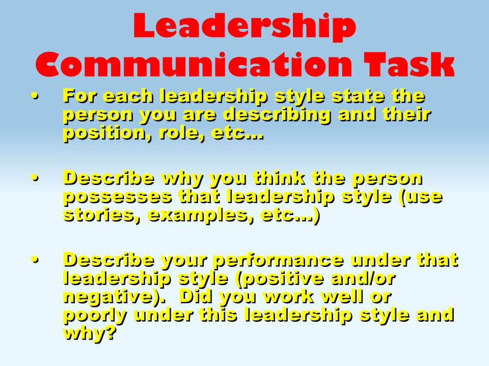 Leadership Styles - ppt video online download