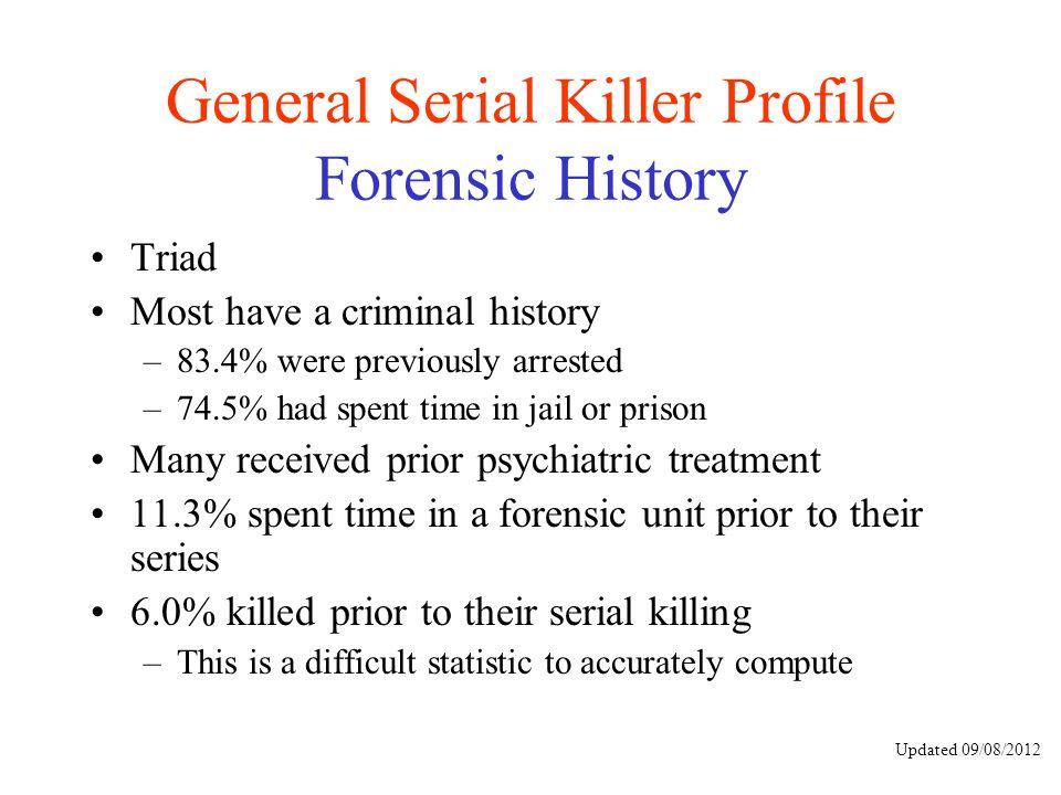The process of criminal profiling in serial killing investigations - criminal profile