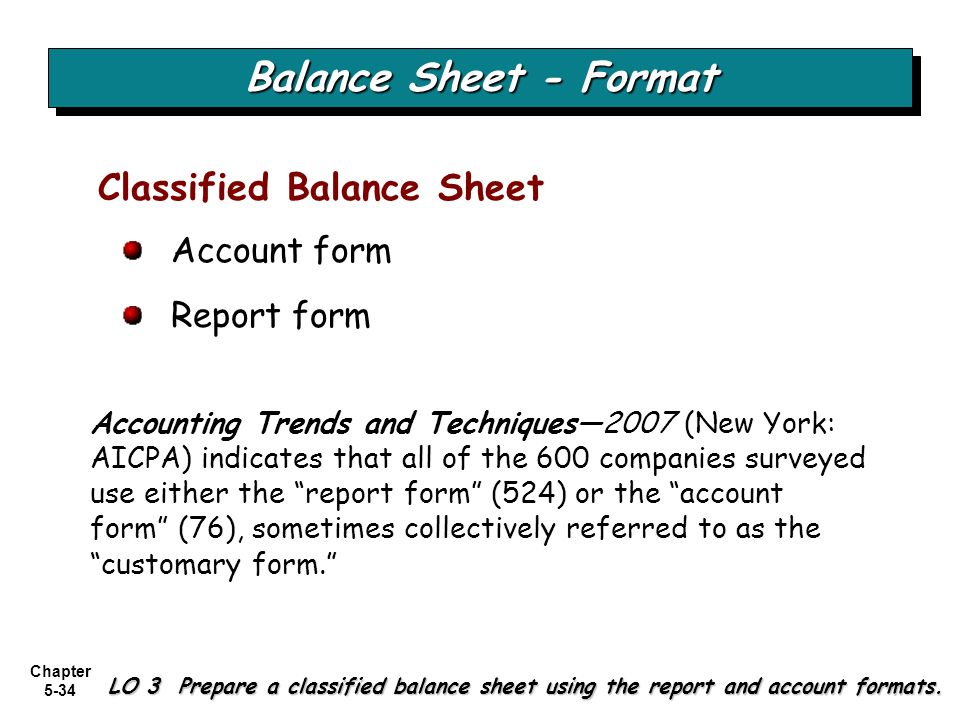 BALANCE SHEET AND STATEMENT OF CASH FLOWS - ppt video online download