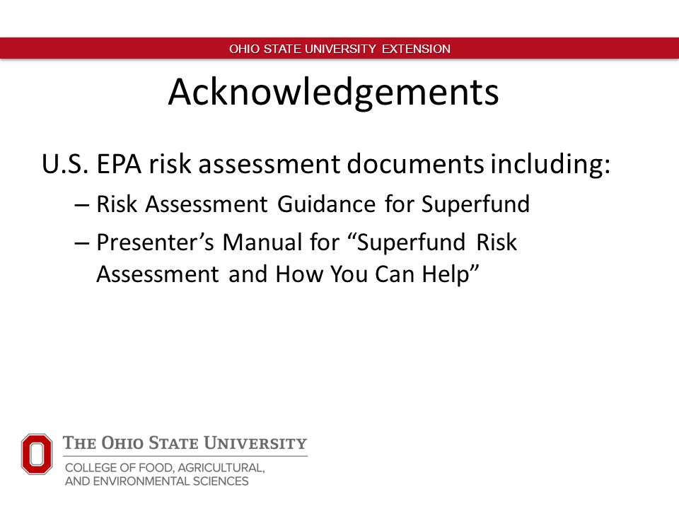 Human Health Risk Assessment and Chemical Safety - ppt download