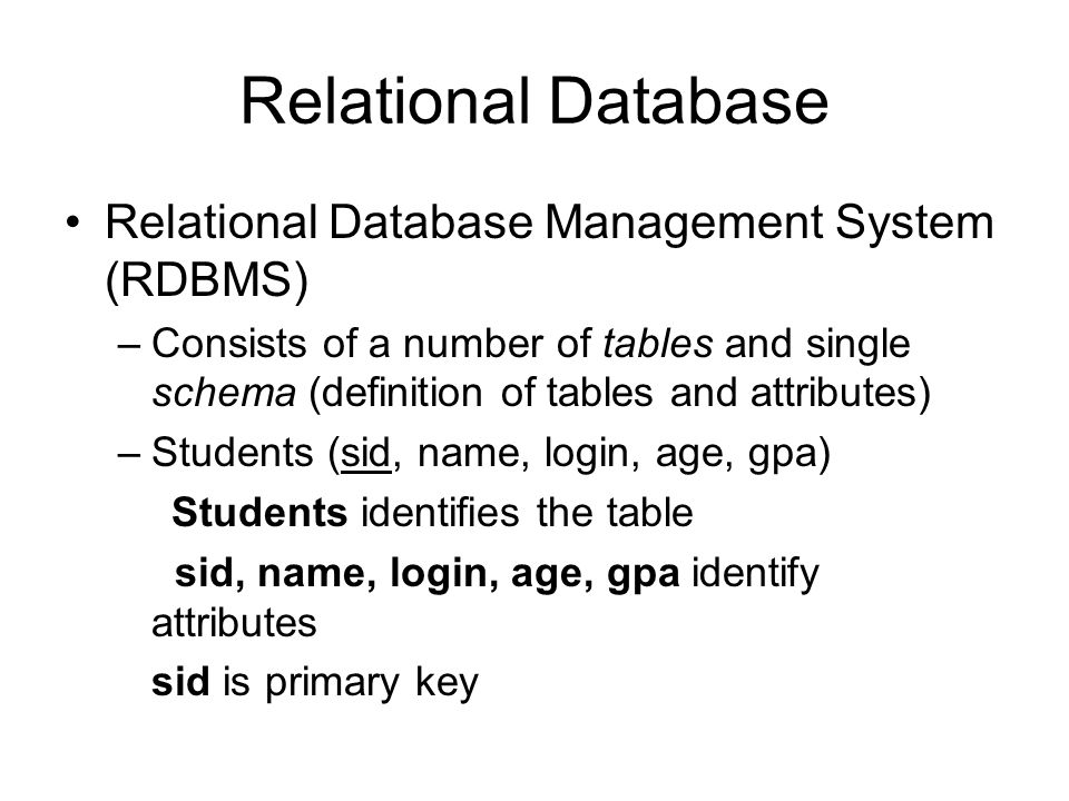 Introduction to Relational Databases - ppt video online download
