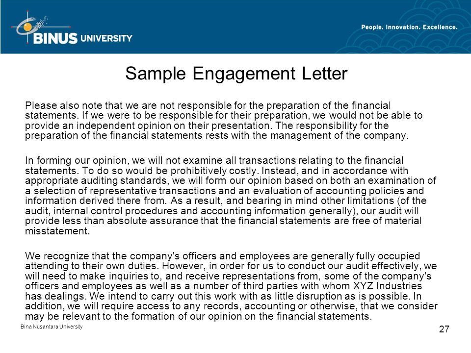 Audit Charter dan Letter of Engagement Pertemuan ppt download - engagement letter
