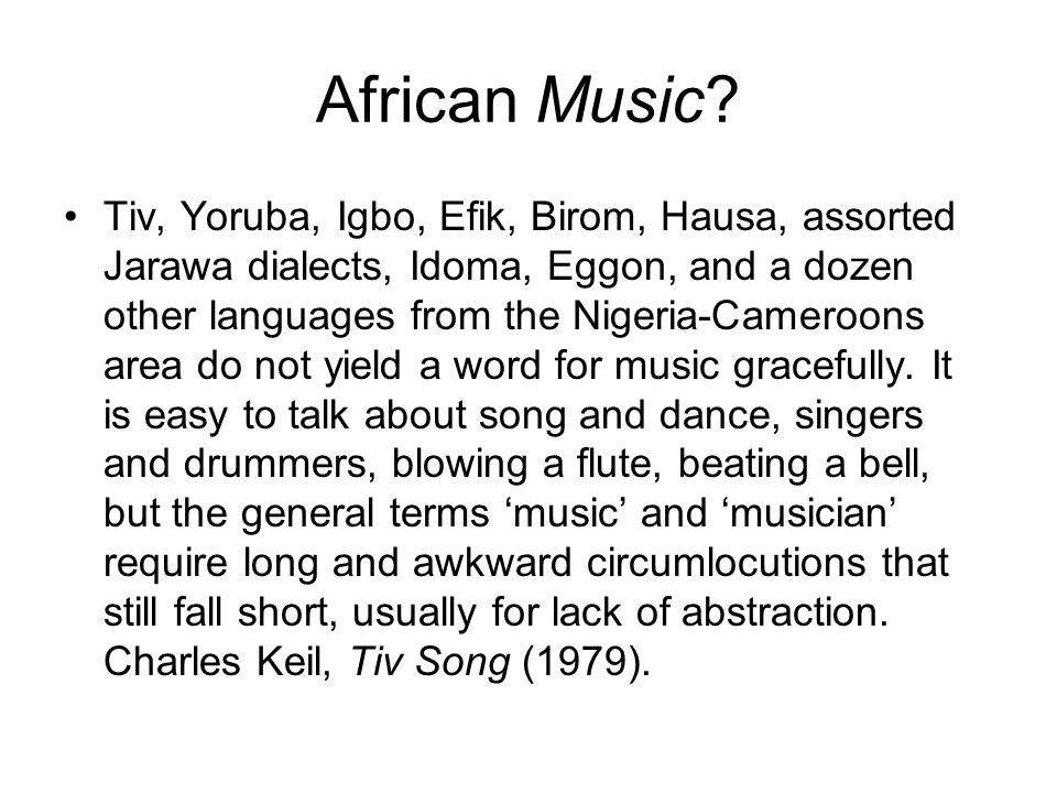 Introduction to African Music - ppt video online download