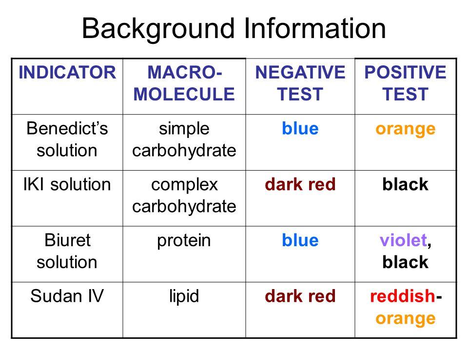 Iki Solution identifying macromolecules in food lab - ppt video
