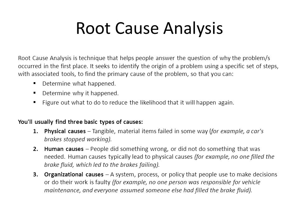 Root Cause Analysis District 1 Membership - ppt video online download