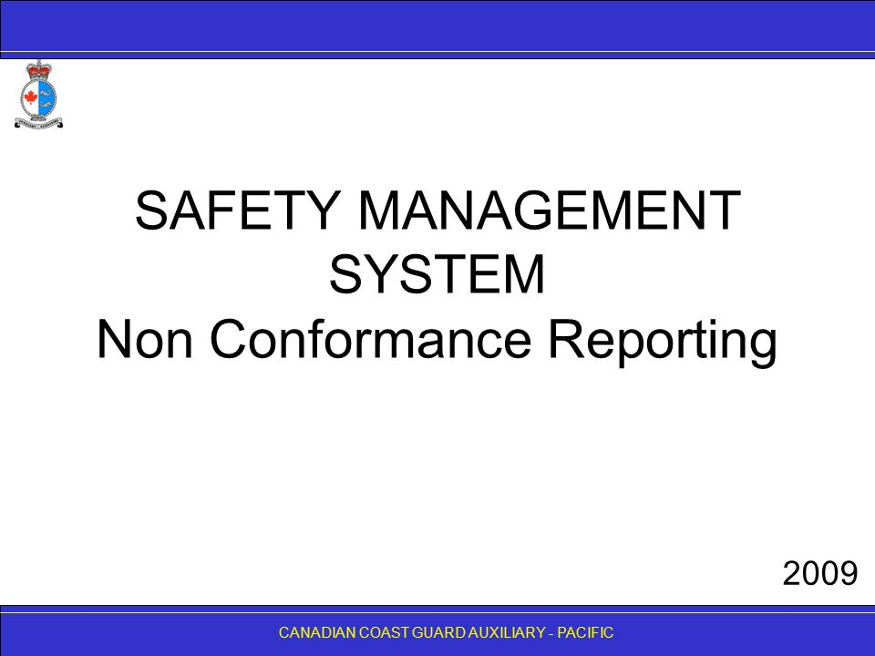 SAFETY MANAGEMENT SYSTEM Non Conformance Reporting - ppt video