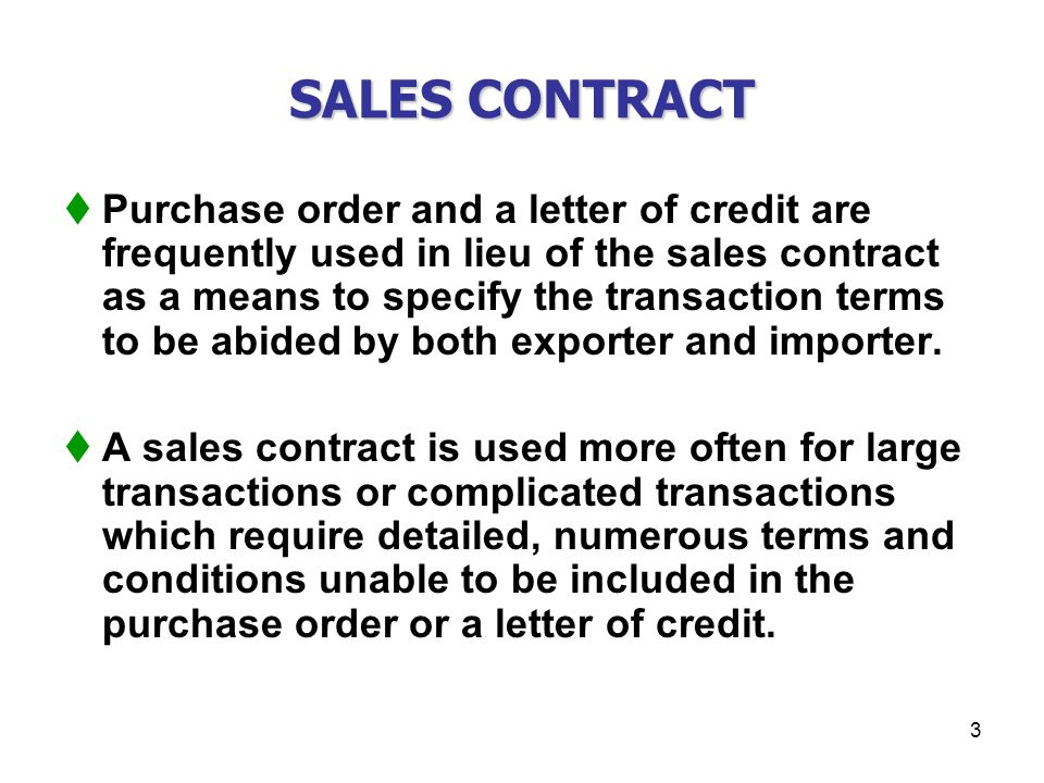 CHAPTER XXX SALES CONTRACTS - ppt download