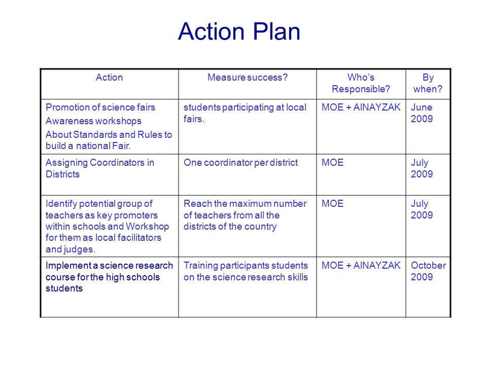 Action Plan Guidelines - ppt video online download