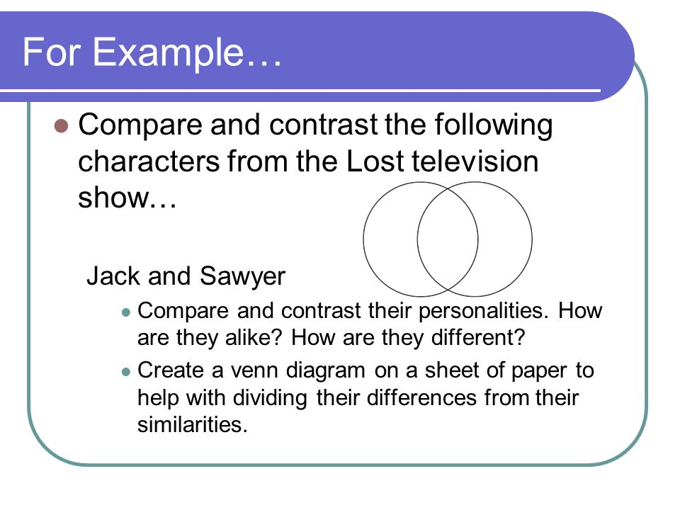 Creating an effective comparison/contrast essay - ppt video online