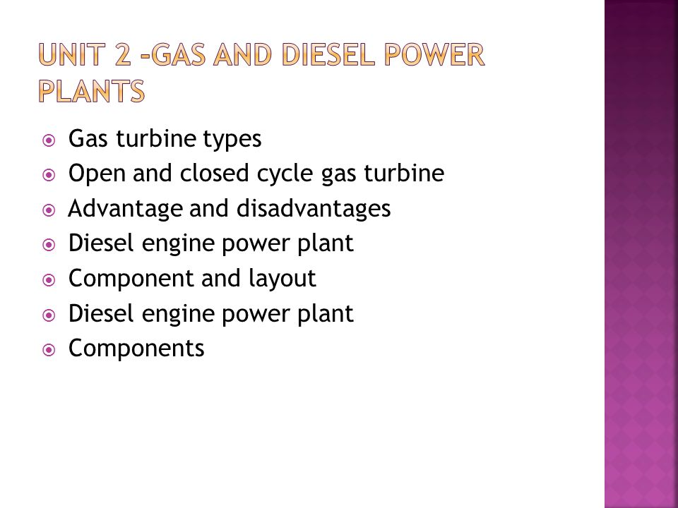 Unit 2 -Gas And Diesel Power Plants - ppt video online download
