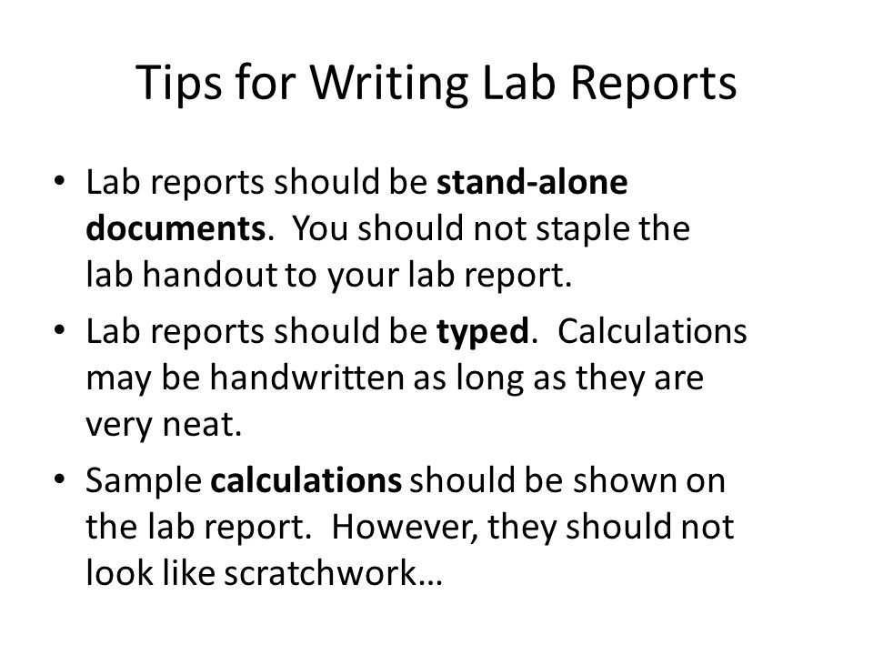 Tips for Writing Lab Reports - ppt video online download