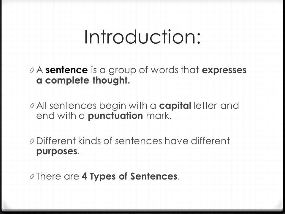4 Types of Sentences - ppt download
