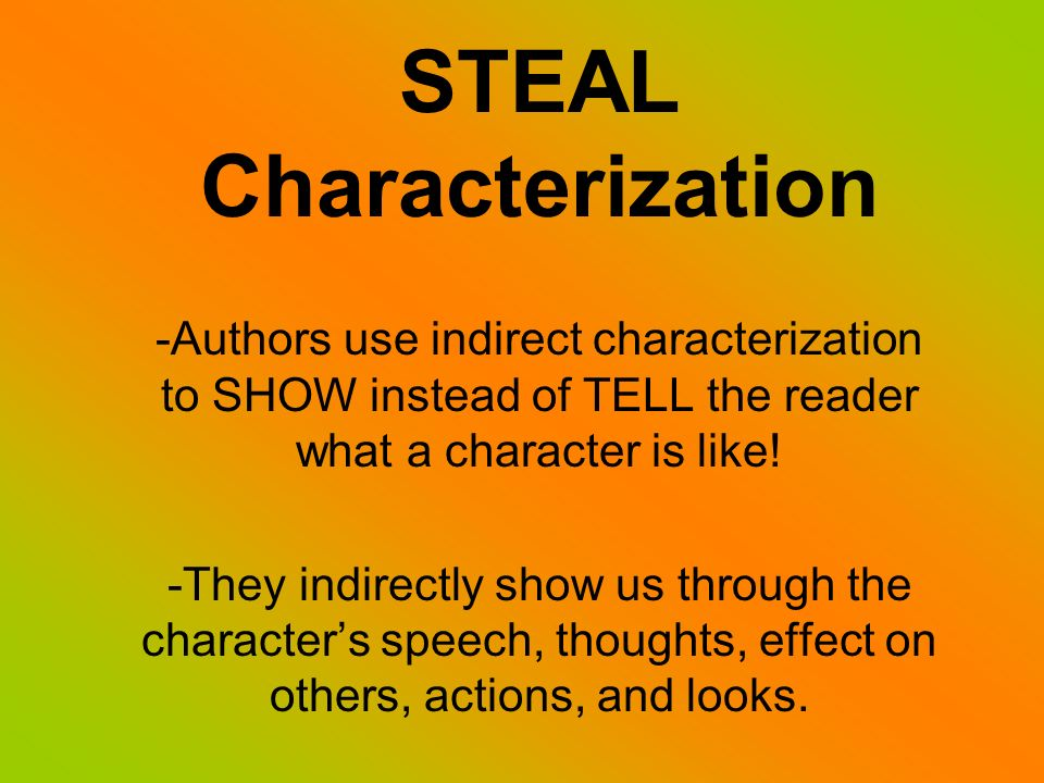 STEAL Characterization - ppt video online download