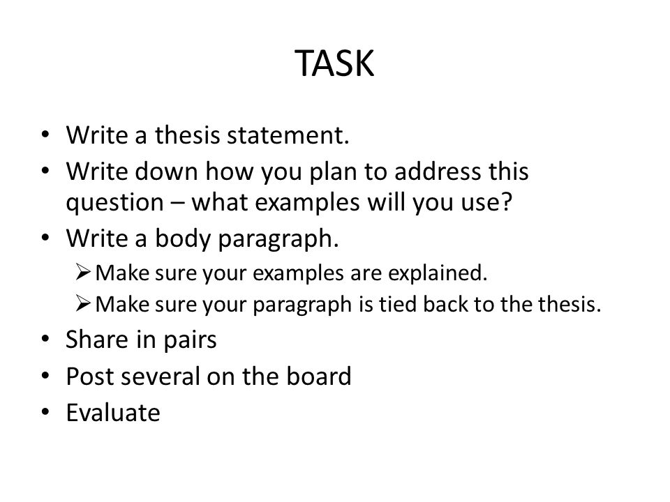 How write a thesis statement for a research paper - Best term paper