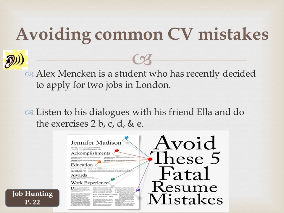 Professional Communication Skills - ppt video online download - avoiding first resume mistakes
