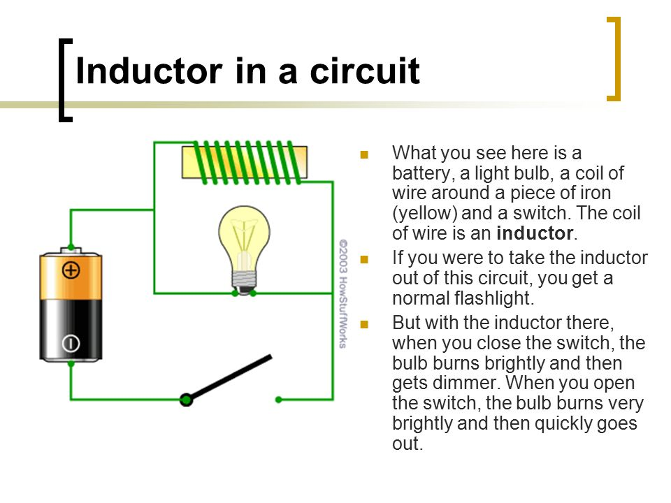 Simple Inductor Circuit car block wiring diagram