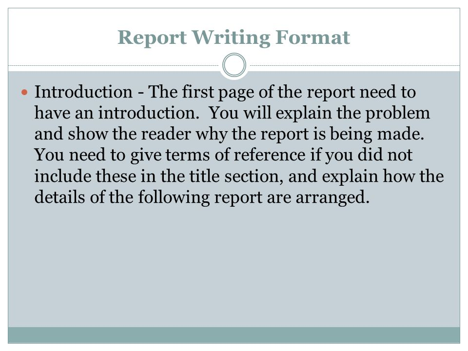 Report Writing Format If you have been asked to write a report, one - the report format