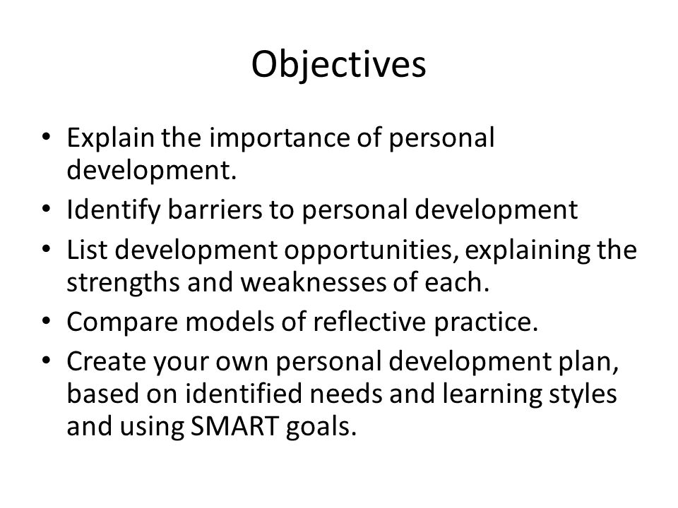 Personality Development Plan 26 images of personal development plan