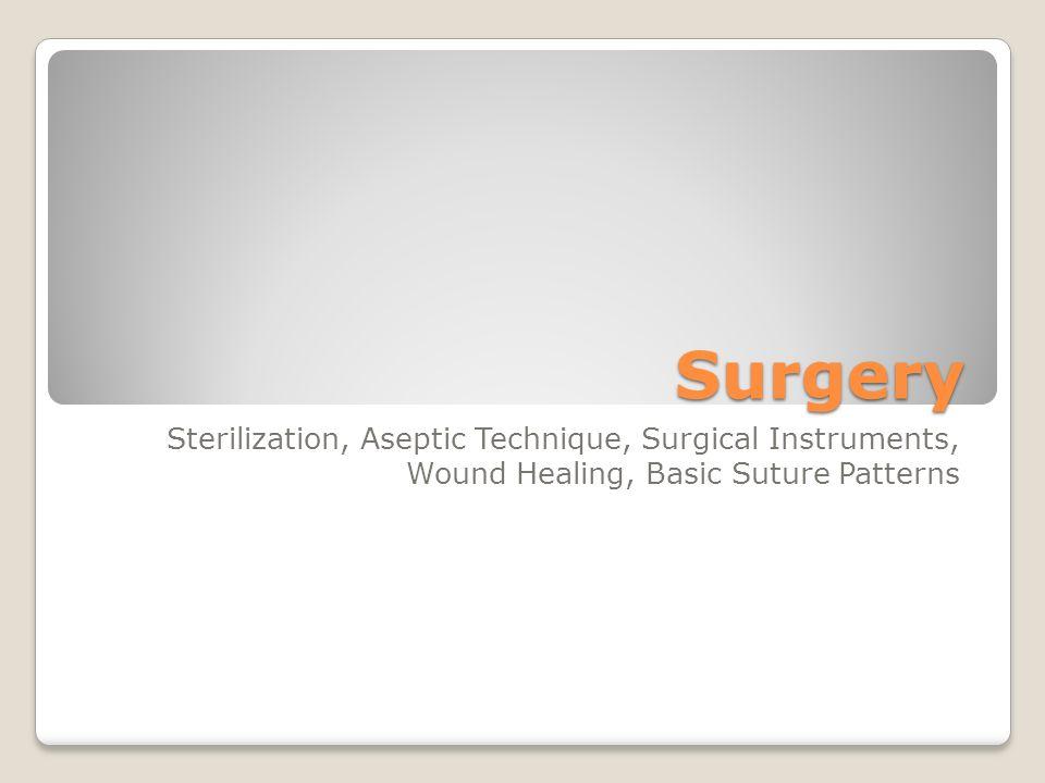 Surgery Sterilization, Aseptic Technique, Surgical Instruments