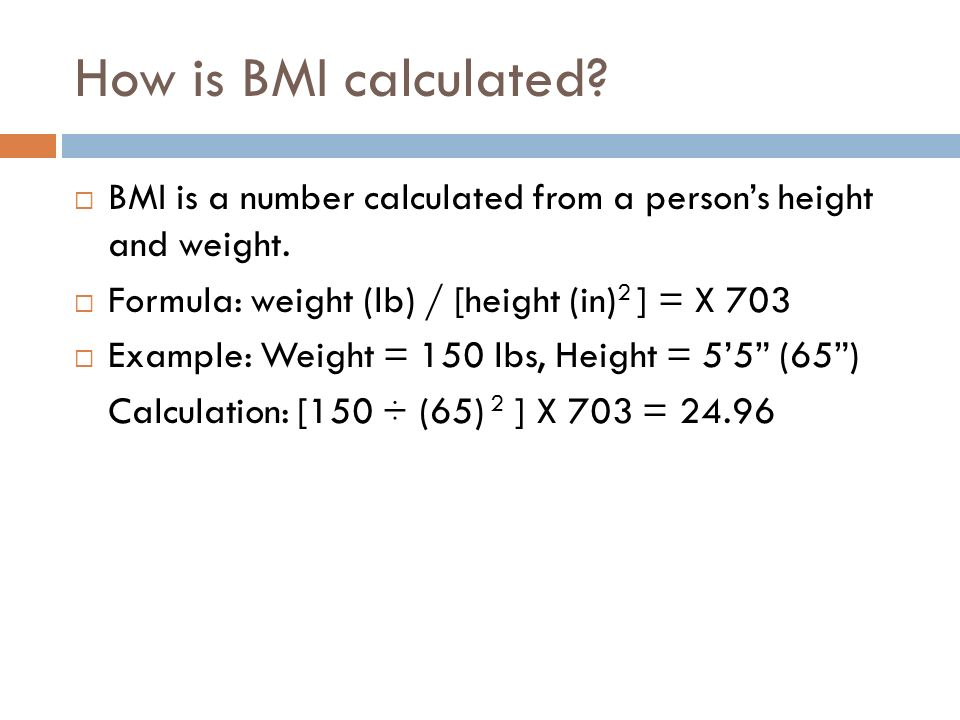 How to Calculate Your Body Mass Index (BMI) - ppt download - bmi calculation formula
