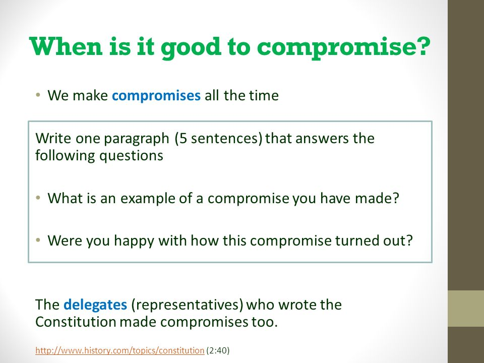 The Constitution  Compromise - ppt video online download