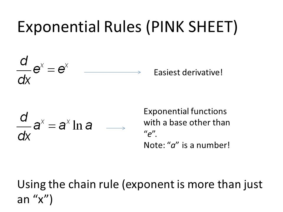 Exponential and Log Derivatives - ppt video online download