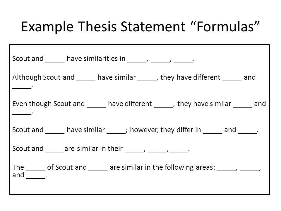 Write my thesis statement examples for comparing and contrasting essay