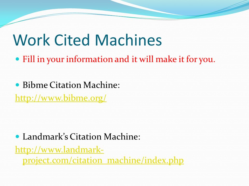 How to Cite a Source The Work Cited Page - ppt download