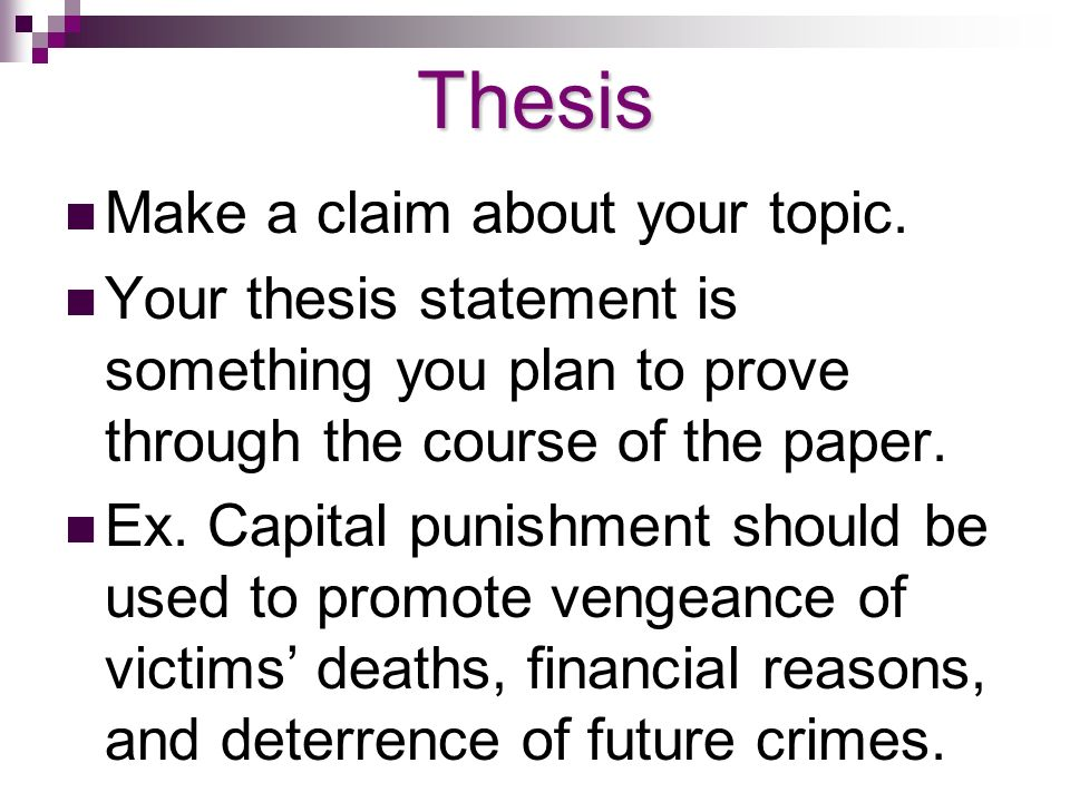 Thesis on capital punishment