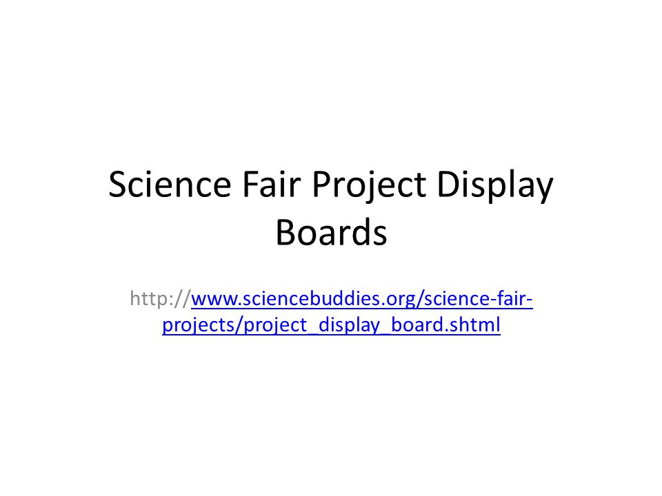 Science Fair Project Display Boards - ppt download