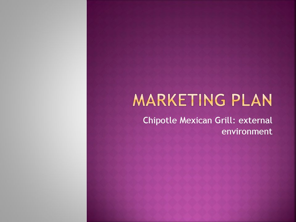 Chipotle Mexican Grill external environment - ppt video online download