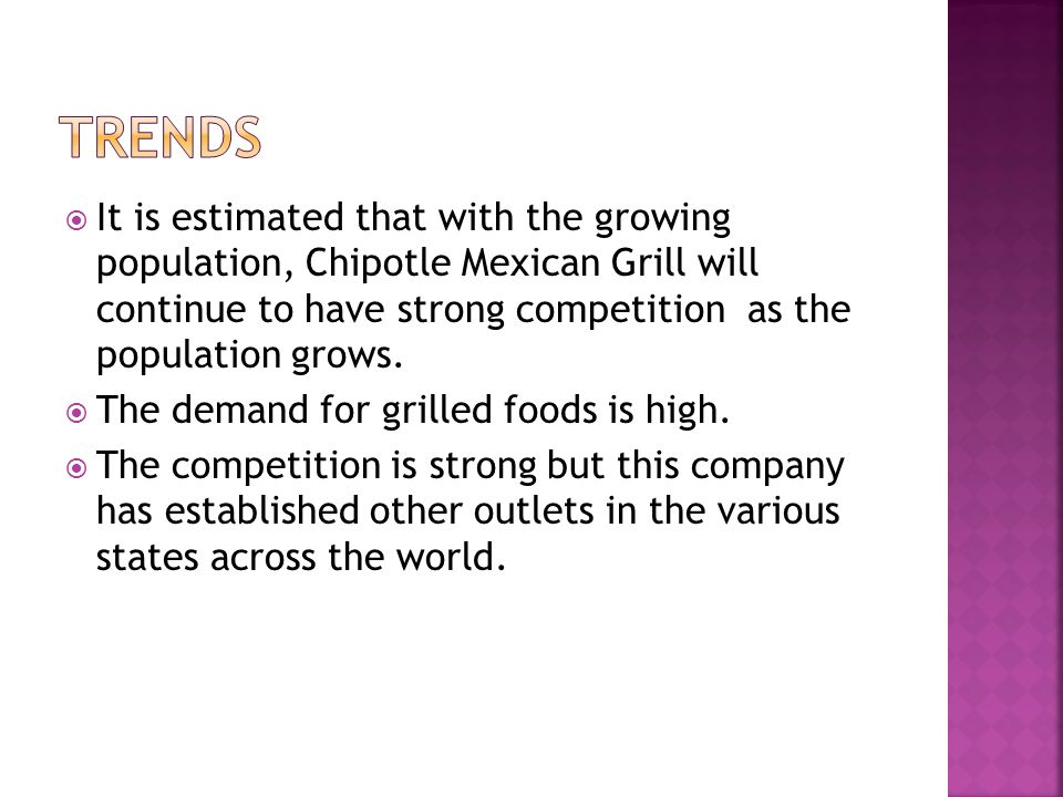 Chipotle Mexican Grill external environment - ppt video online download - chipotle swot