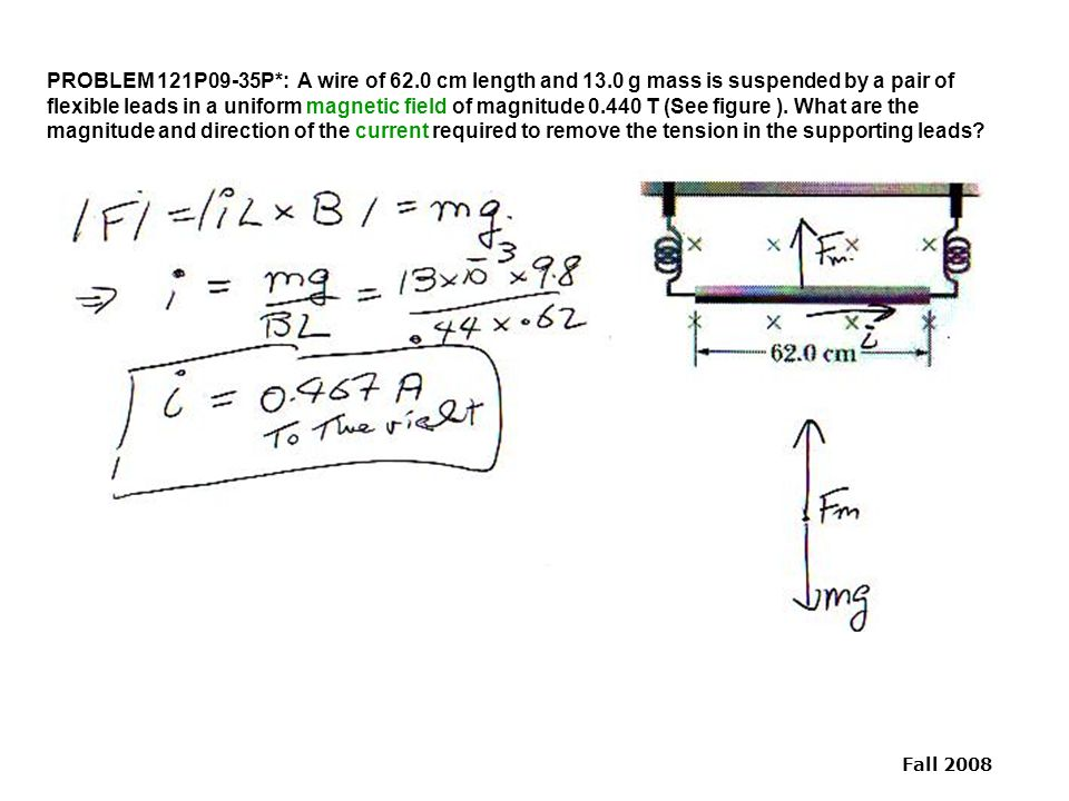 Physics 121 Practice Problem Solutions 09 Magnetic Fields - ppt download