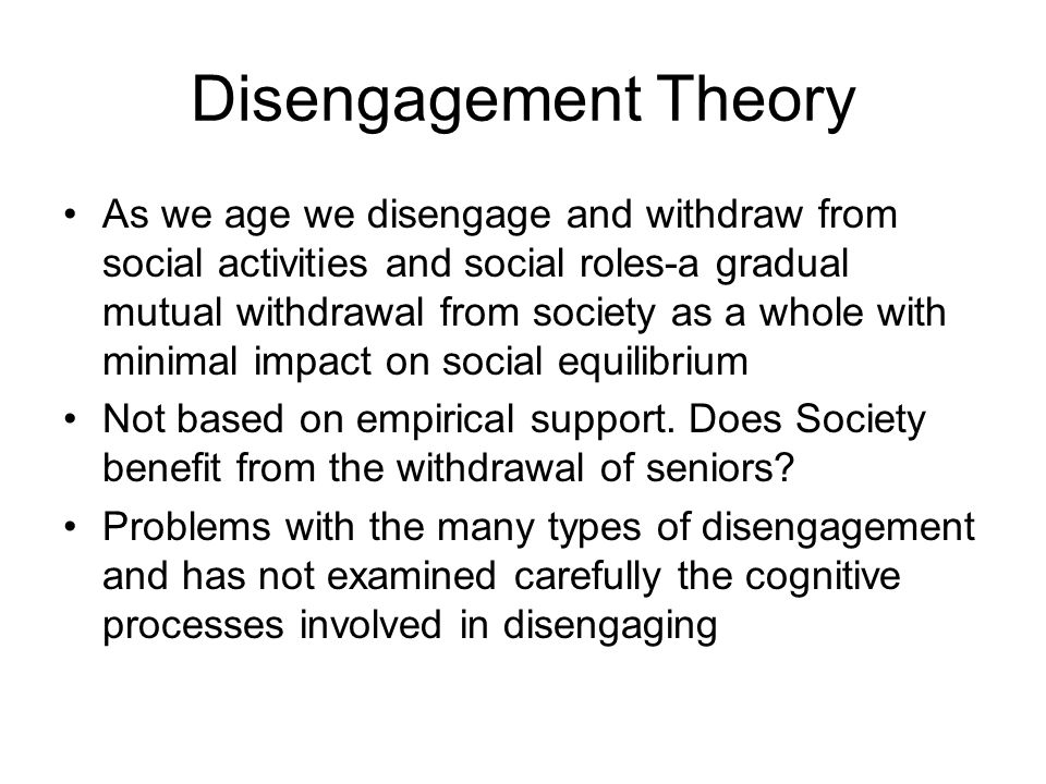 Social Theory in Gerontology - ppt video online download