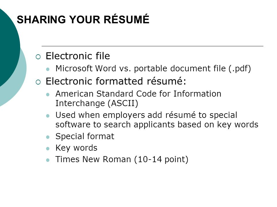 Chapter 14 Resumé Package - ppt download