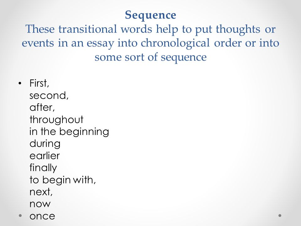 Transition words help you College paper Help - transition words for college essays