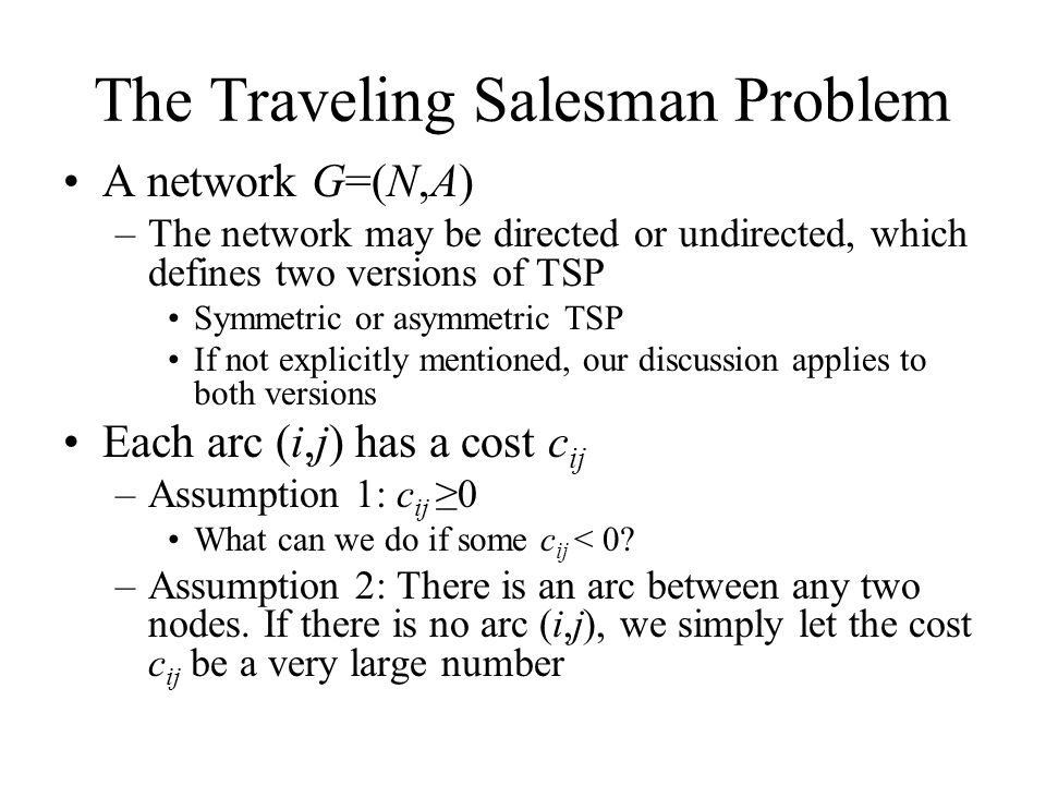 Report the travelling salesman problem Homework Writing Service - problem report