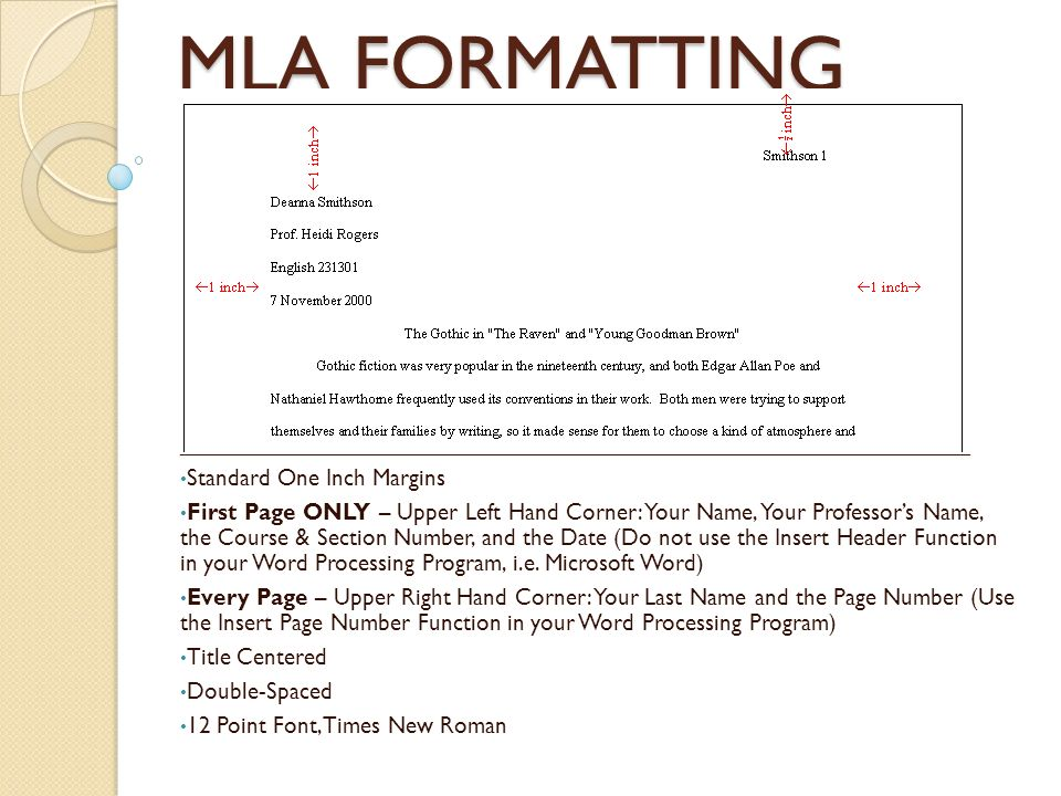 MLA FORMATTING - ppt video online download