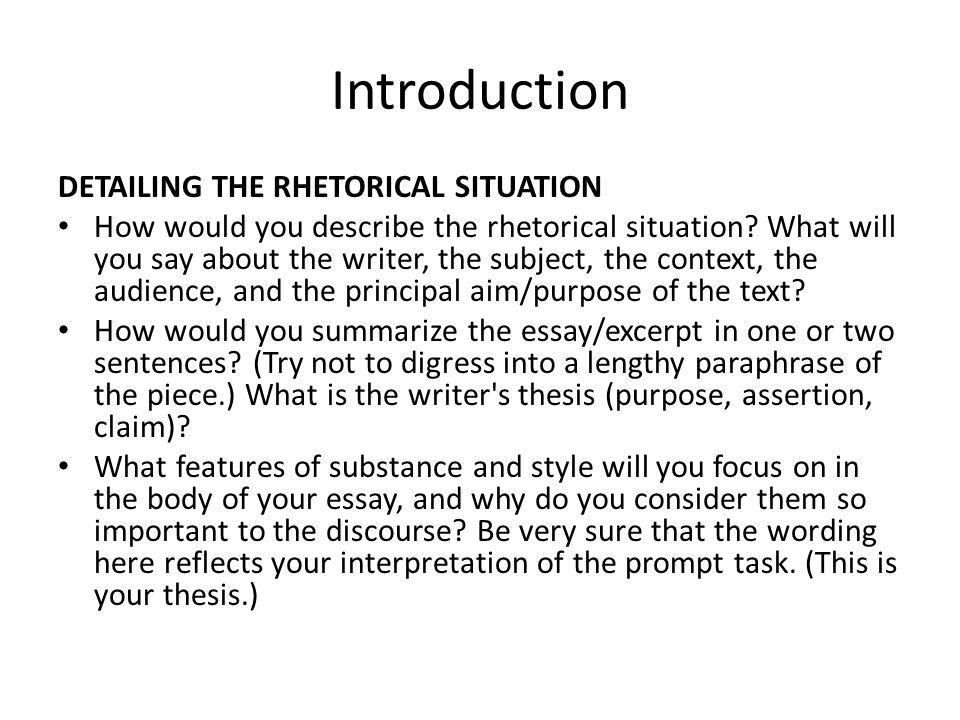 Rhetorical Situation Essay Youtubesage books - critical approaches